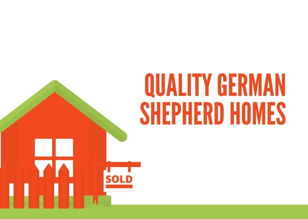 Quality German Shepherd Homes